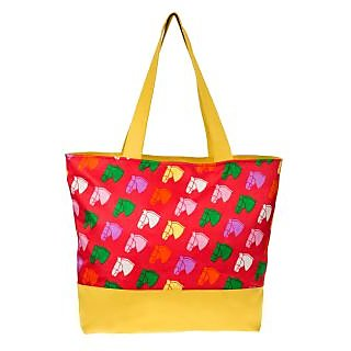 Waanii Womens Tote Bag (Red) - WNI920