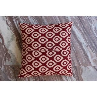 Worldoftextiles Hand block printed cotton cushion cover 16x16