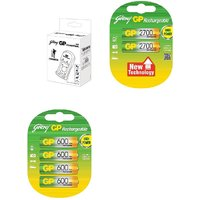 GODREJ GP SET OF STANDLONE CHARGER -2700  600 MAH RECHARGEABLE BATTERIES