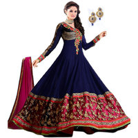 Aagaman Blue,Pink Resham Embroidery Suit
