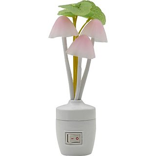 Wall Lamps Flipkart : Mushroom Night Light with Color Changing LED Wall Lamp available at ShopClues for Rs.149