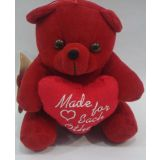 Valentine Red Teddy Bear With Heart