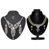 Combo Of Trendy Pearl Necklace Set With Cz Star Necklace Set D And Y 1028
