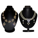 Combo Of 2 Trendy Pearl Necklace Set With Golden Chain D And Y 1051