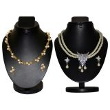 Combo Of 2 Trendy Pearl Necklace Set With Golden Chain D And Y 1052
