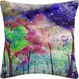 Water Color Spread (Digital Printed Cotton Cushion Cover)