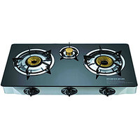 Gas Stove 3 Burner Glass Cook Top Gas Stove