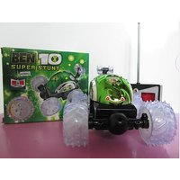 BEN 10 Super Stunt Car Remote Control RC With Flashing For Kids (Best Gift Toy