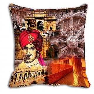 Mesleep Red King Wheel Digitally Printed Cushion Cover