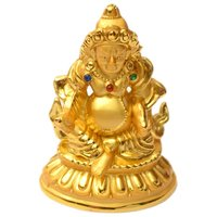 Fibre Lord Kuber Statue In Golden Colour