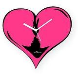 Zeeshaan Love Me Forever Black Pink Wall Clock