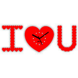 Zeeshaan Diamnate I Love You Red Wall Clock