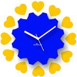 Zeeshaan Piece Of My Heart Blue Yellow Wall Clock