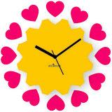 Zeeshaan Piece Of My Heart Yellow Pink Wall Clock