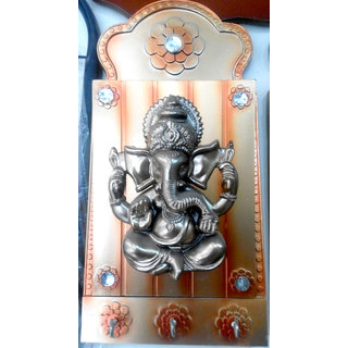 Wooden Key Holder  With Ganesha Painting