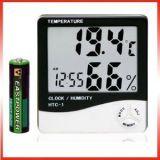 Lcd Temperature Humidity Meter And Clock Hygrometer