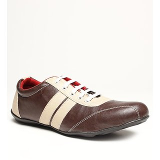 Red Cube Brown & Beige Casual Shoes