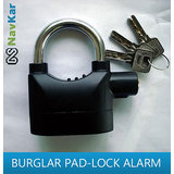 Smart Burglar Alarm Motion Sensor Pad Lock | Alarm Lock for Home, Shops, Offices