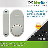 Mini Wireless Door & Window Magnetic Sensor with Burglar Alarm Bell