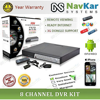 8 CHANNEL DVR KIT NETWORK DVR FOR CCTV DOME  BULLET CAMERA
