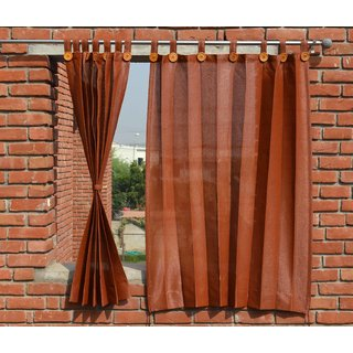 HIPPO Outdoor Curtains - Brown Colour - Window Size (2 Nos. x 4.0 ...