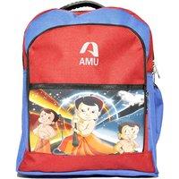 AMU Waterproof School Bag (Multi color, 14 inch)