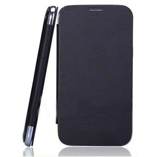 MICROMAX CANVAS HD A116 Flip Cover   Black available at ShopClues for Rs.160