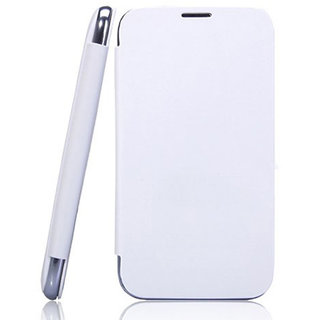 MICROMAX CANVAS HD A116 Flip Cover WHITE available at ShopClues for Rs.160