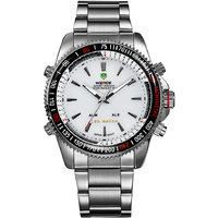 Weide Men Sports Waterproof Dual Time Dial LED Digital Wristwatches