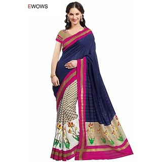 Rishi Designer Party Wear Indian Bollywood Multi Color ArtSilk  Saree
