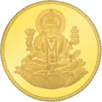 E Gitanjali 10 GM 24KT 995 Purity Laxmi Gold Coin BIS Hallmarked