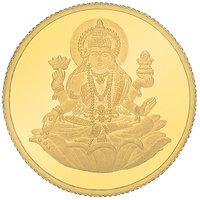 E Gitanjali 10 GM 24KT 995 Purity Laxmi Gold Coin BIS Hallmarked
