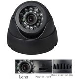 CCTV DOME CAMERA 24 IR AUDIO/VIDEO RECORDER, SD CARD SUPPORTED PLUG AND PLAY
