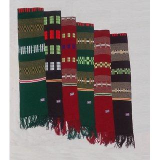 Multicolor Pure Woolen Muffler for Mens Comfortable Winter Season