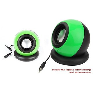 Portable Mini AUX Speakers with USB Battery Rechargable for Mobile/Tablet/Laptop