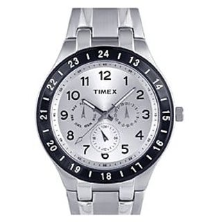 Timex E-Class Analog White Dial Men's Watch - F900