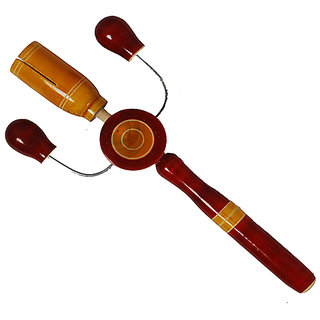 MNC Wooden Handicraft Lacquer Baby Rattle(Kitkiti)