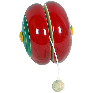MNC Channapatna Wooden Handicraft Lacquer Stylish Yo-Yo(Red)