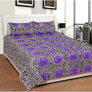 Akash Ganga Cotton Double Bedsheet with 2 Pillow Covers (KK BS 2)