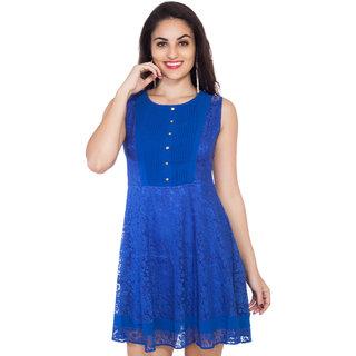 SOIE Womens Ink Blue A-line Dress
