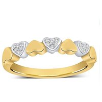 Mani Jewel 92.5Kt Sterlling Silver Certified Diamond Heart Ring Design-1