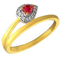 Mani Jewel 92.5Kt Sterlling Silver Certified Diamond Heart Ring Design-2