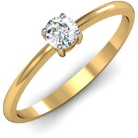 Mani Jewel 92.5Kt Sterlling Silver Certified Diamond Solitaire Ring Design-2