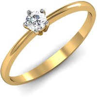 Mani Jewel 92.5Kt Sterlling Silver Certified Diamond Solitaire Ring Design-3