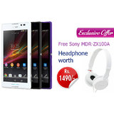 Sony Xperia C with Sony MDR ZX 100A Headphone
