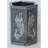 Attractive Wooden Decorative Pen Stand Gift Pen Pencil Holder Desktop Oxidized