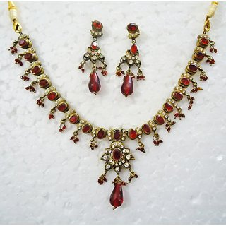 Exclusive Designer Victorian Gold Plated Necklace Set