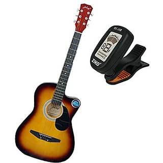 Jixing Acoustic Guitar with Tuner Sunburst available at ShopClues for Rs.2850
