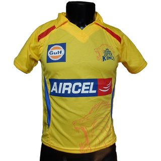 IPL Jersey Cricket T20 India Jersey T Shirt Chennai Super Kings CSK