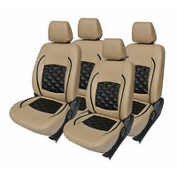 Hi Art Beige/Black Complete Set Leatherite Seat covers Maruti Alto K10